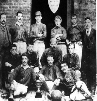 Millwall Rovers with the East London Cup, 1887