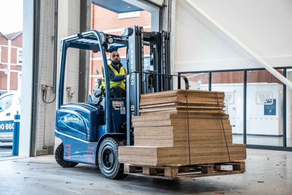 Forklift for business storage