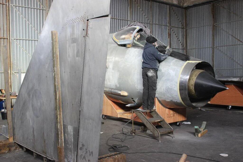 electric lightning plane restoration
