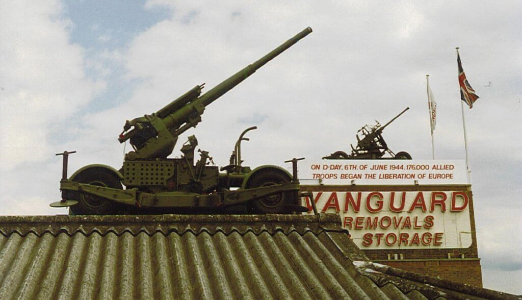dday artillery on the roof